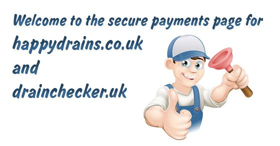 Welcome to the payments page for happydrains.co.uk, welovedrains.co.uk and checkadrain.co.uk